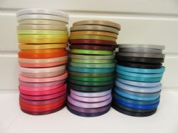 7mm Satin Ribbon 2 metres or 25 metre roll double sided wedding crafts UK